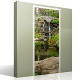 Wall Stickers: Door pond and gardens 7