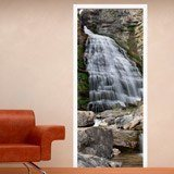 Wall Stickers: Door waterfall and stones 3