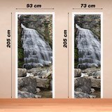 Wall Stickers: Door waterfall and stones 4