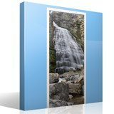 Wall Stickers: Door waterfall and stones 7