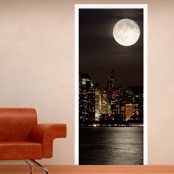 Wall Stickers: Door Moon in Manhattan