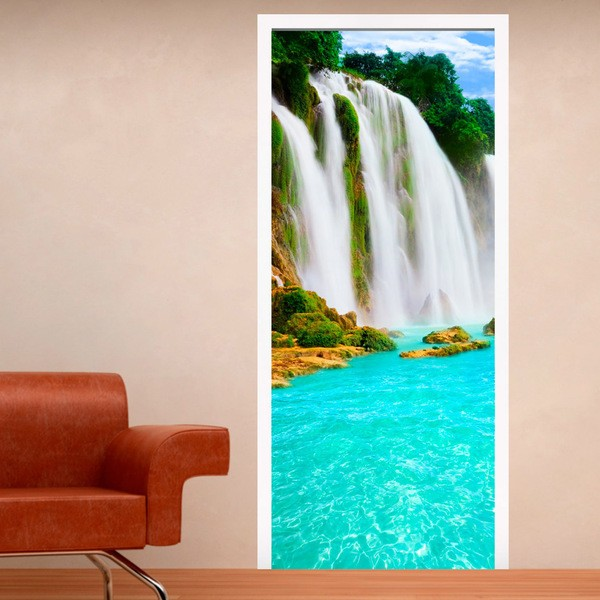 Wall Stickers: Door waterfall