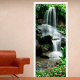 Wall Stickers: Door waterfall and stones 2 3