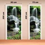 Wall Stickers: Door waterfall and stones 2 4