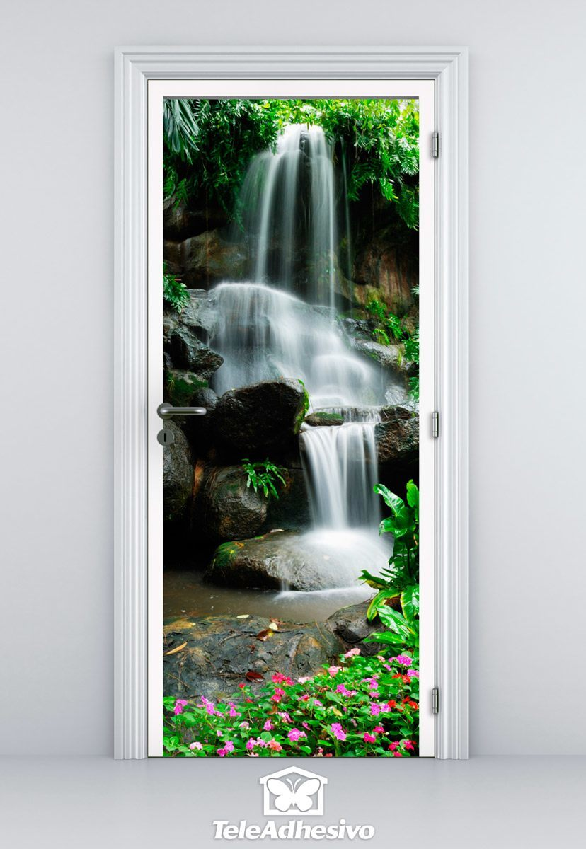 Wall Stickers: Door waterfall and stones 2