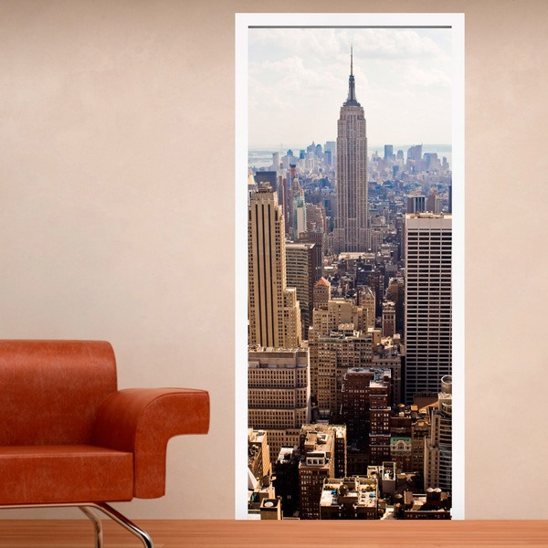 Wall Stickers: Door view of the Empire State Building