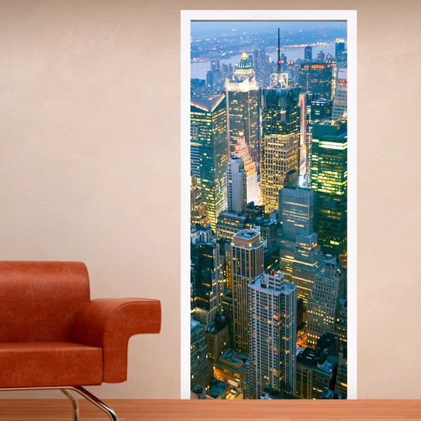 Wall Stickers: Skyscraper door in New York