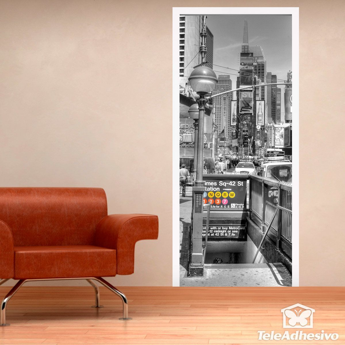 Wall Mural Door Nyc Subway Entrance Muraldecal
