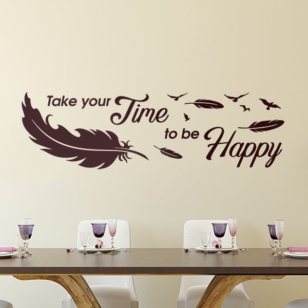 Wall Stickers: Take time to be happy