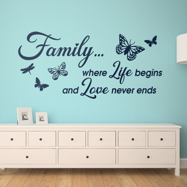 Wall Stickers: Family is where life begins