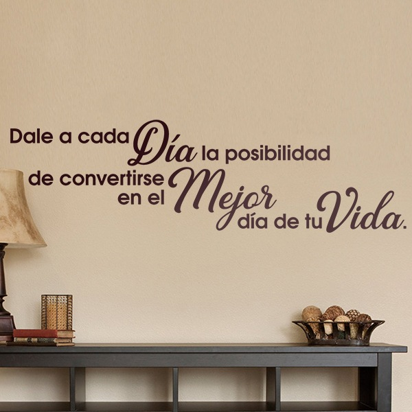 Wall Stickers: Give to each day...