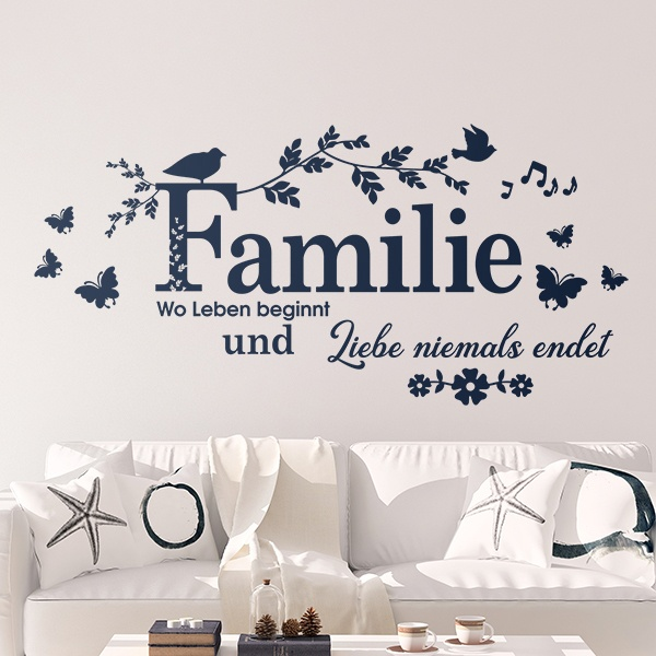 Wall Stickers: Familie, wo Leben begin