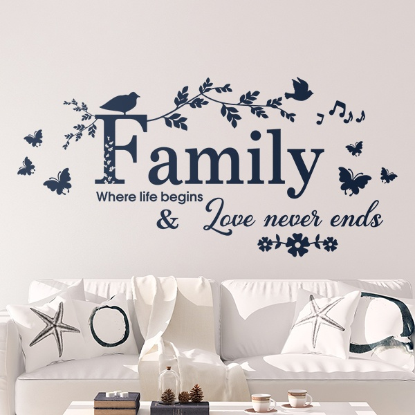 Wall Stickers: Family, where life begins