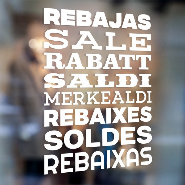 Wall Stickers: Typographic Sale Multi-language 0