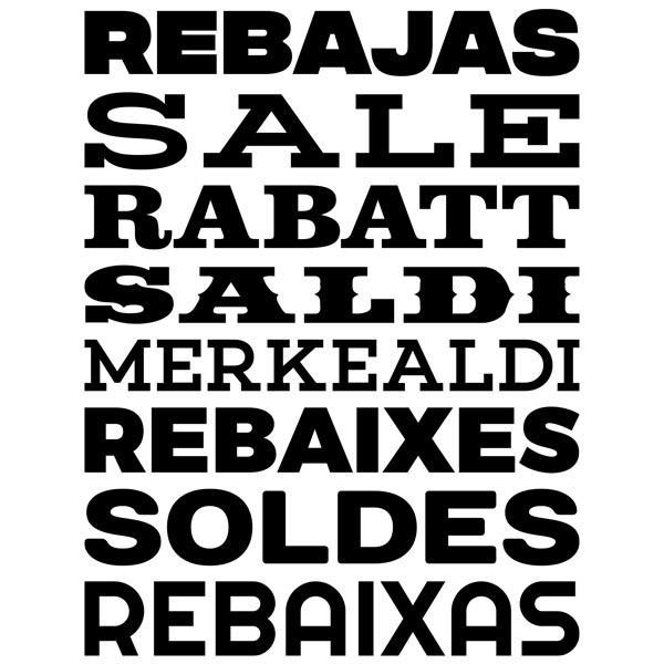 Wall Stickers: Typographic Sale Multi-language