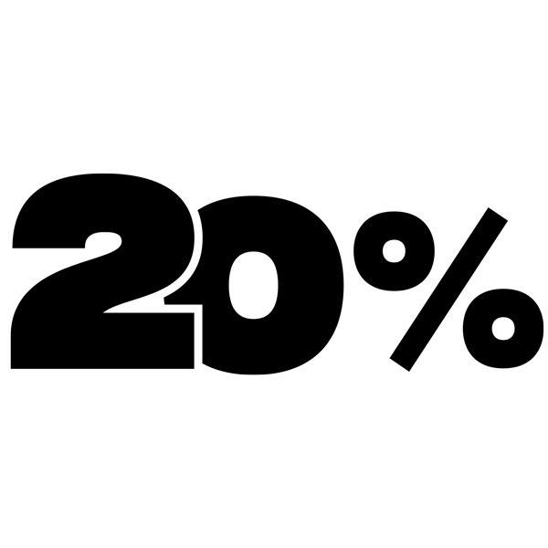 Wall Stickers: 20%