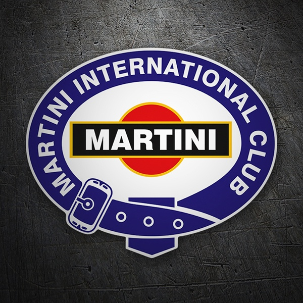 Car & Motorbike Stickers: Martini international club