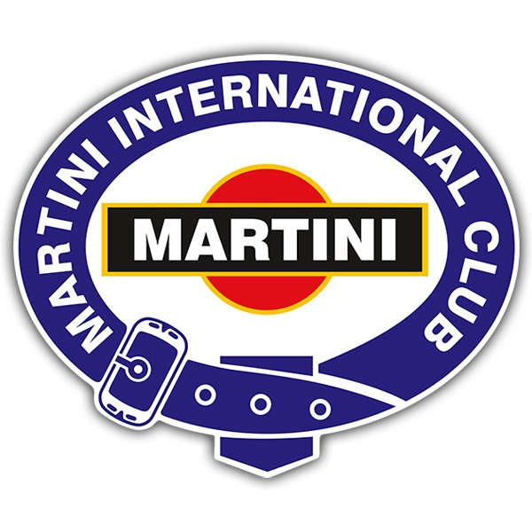 Car and Motorbike Stickers: Martini international club