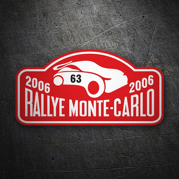 Car & Motorbike Stickers: Monte-Carlo Rally 2006