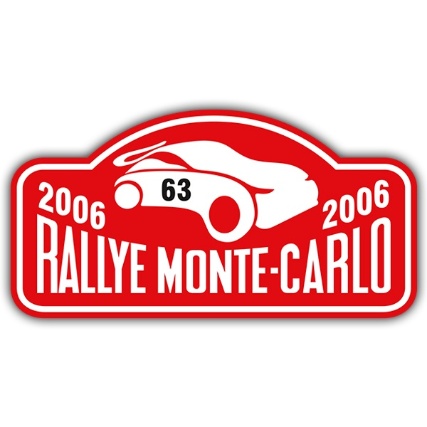 Car and Motorbike Stickers: Rallye Monte-Carlo II