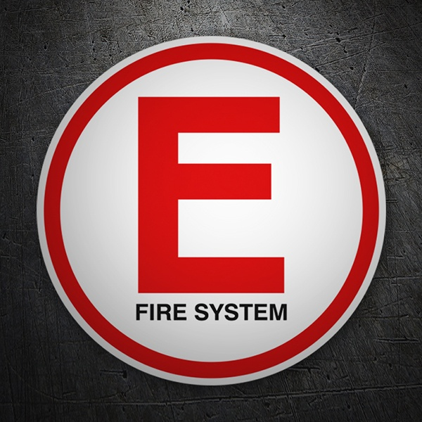 Car & Motorbike Stickers: E Fire System