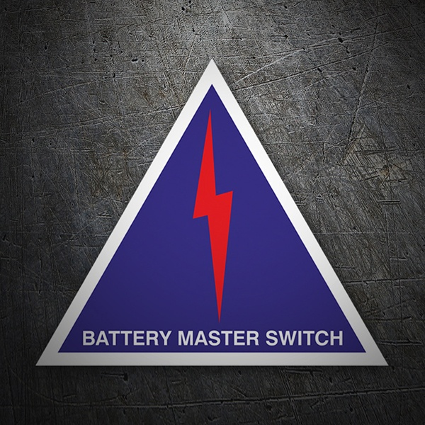Car & Motorbike Stickers: Battery master switch
