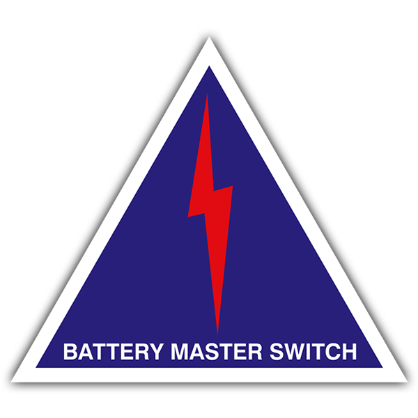 Car and Motorbike Stickers: Battery master switch