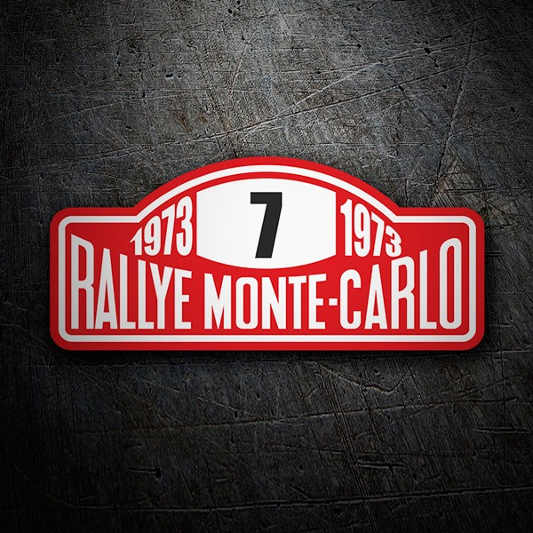 Car and Motorbike Stickers: Rallye Monte-Carlo