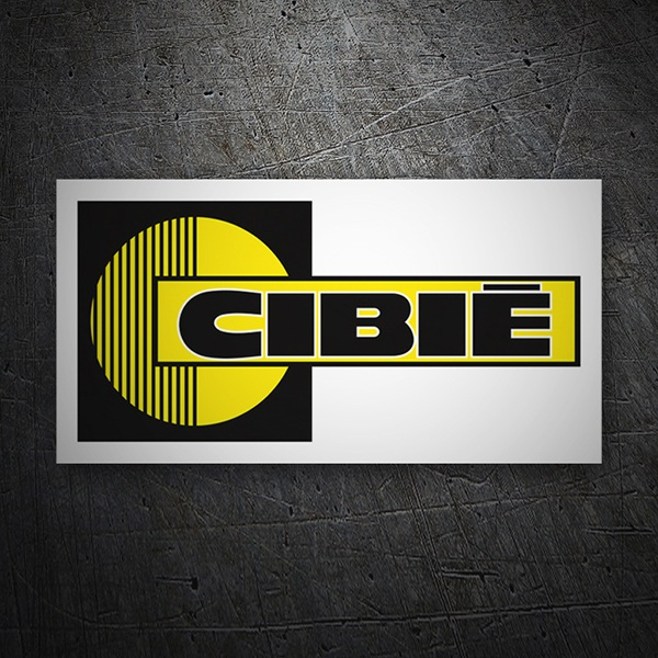 Car & Motorbike Stickers: Cibie white background