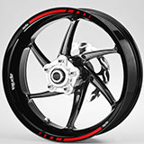 Car & Motorbike Stickers: Kit rim stripes sticker Aprilia red and black 4
