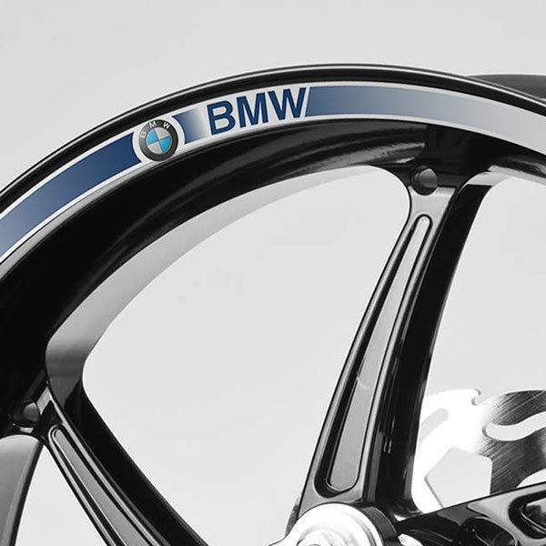 Car & Motorbike Stickers: Kit rim stripes sticker BMW Classic