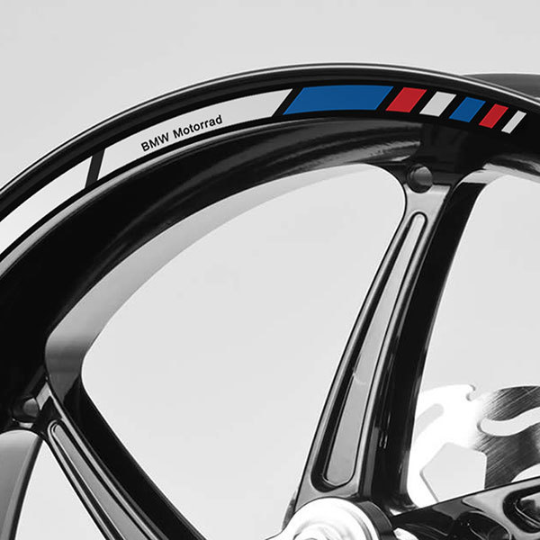 Car & Motorbike Stickers: Kit rim stripes sticker BMW F800R