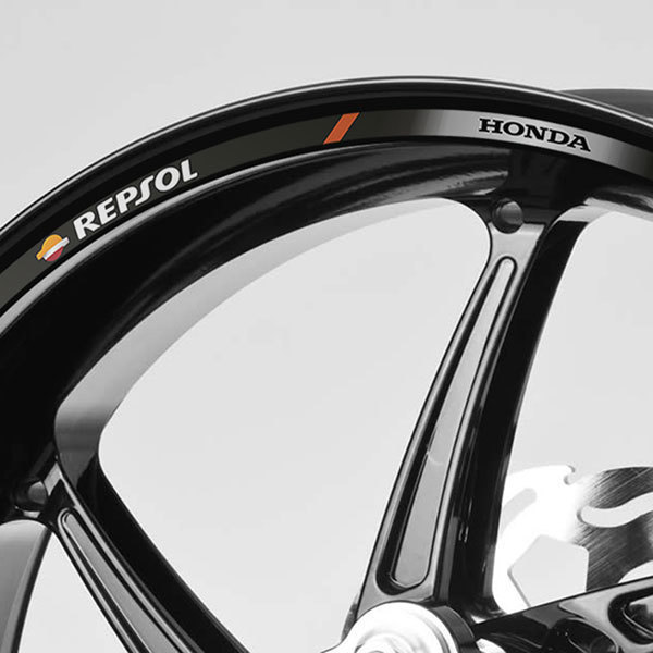 Car & Motorbike Stickers: Rim stripes sticker Repsol Honda