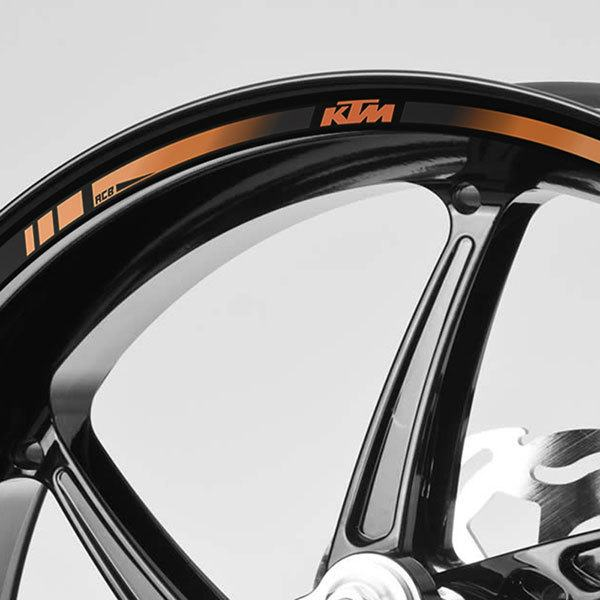 Car & Motorbike Stickers: Kit rim stripes sticker KTM