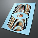 Car & Motorbike Stickers: Kit rim stripes sticker KTM 3