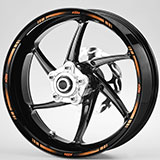 Car & Motorbike Stickers: Kit rim stripes sticker KTM 4