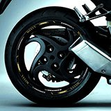 Car & Motorbike Stickers: Rim Stripes sticker Honda CB 1000R 5