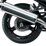 Car & Motorbike Stickers: Kit rim stripes sticker Suzuki Bandit 5