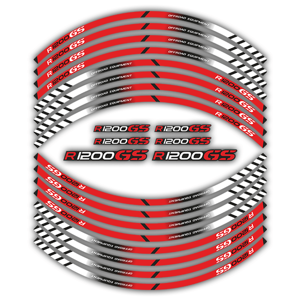 Car & Motorbike Stickers: Kit rim stripes sticker BMW R 1200GS