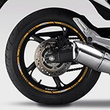 Car & Motorbike Stickers: Kit rim stripes sticker Honda CB 600F 5