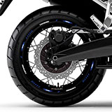 Car & Motorbike Stickers: Kit rim stripes sticker Yamaha Tenere 5