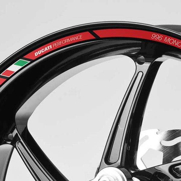 Car & Motorbike Stickers: Kit rim stripes sticker Ducati 996 Monoposto