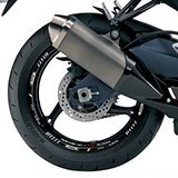 Car & Motorbike Stickers: Kit rim stripes sticker Suzuki GSX 750 5