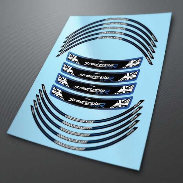 Car & Motorbike Stickers: Rim stripes sticker Triumph RSX-Blue