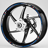 Car & Motorbike Stickers: Rim stripes sticker Suzuki GS 650F 4