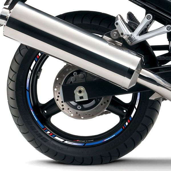 Car & Motorbike Stickers: Rim stripes sticker Suzuki GS 650F