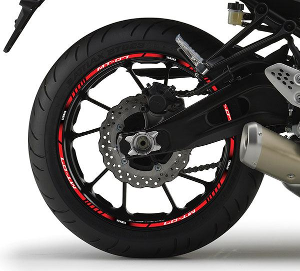 Car & Motorbike Stickers: Rim stripes sticker Yamaha MT 07