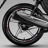 Car & Motorbike Stickers: Rim stripes sticker Honda CG 150 5