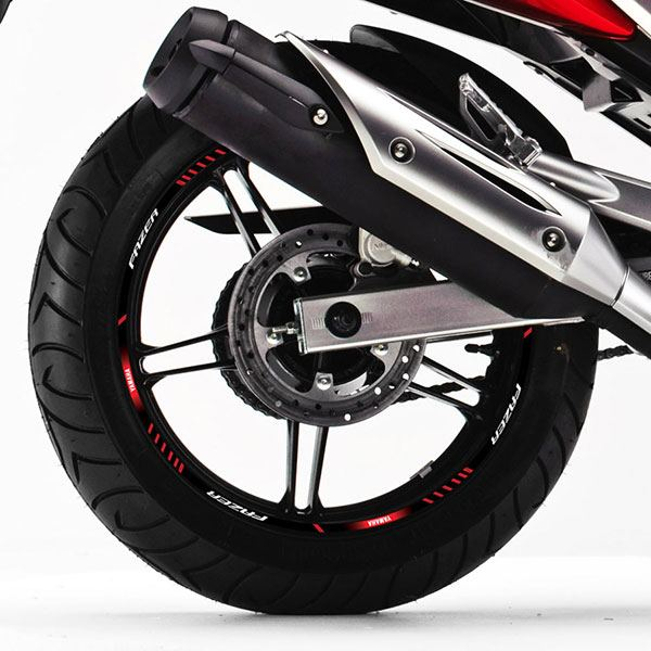 Car & Motorbike Stickers: Rim stripes sticker Yamaha Fazer 250