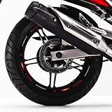 Car & Motorbike Stickers: Rim stripes sticker Yamaha Fazer 250 5